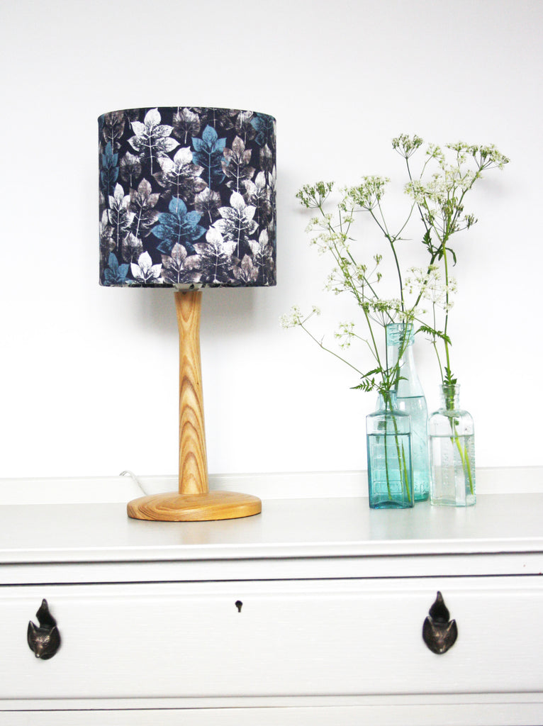 Leaf Stem - Charcoal Lampshade