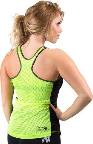 Gorilla Wear Marianna Tank Top - Black/ Neon Lime