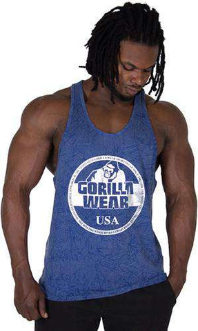 Gorilla Wear Mill Valley Tank Top - Royal Blue