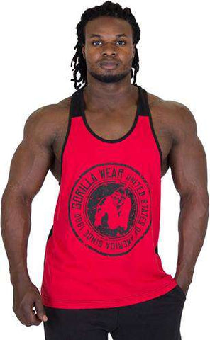 Gorilla Wear Roswell Tank Top - Red / Black