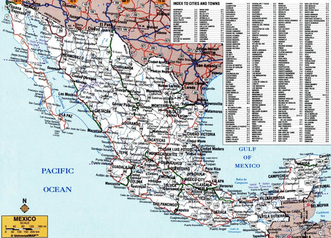 Map of Mexico's extensive highway network