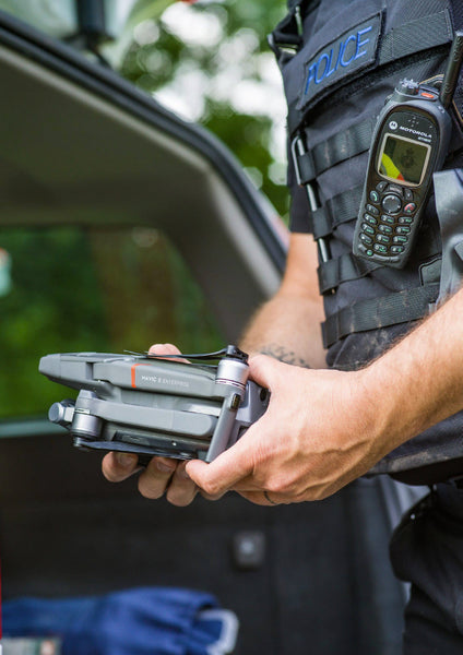 Police Officer Handling the DJI Mavic 2 Enterprise