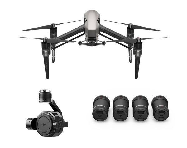 DJI Inspire 2 with Zenmuse X7 & 4-Lens Pack Ultra Bundle