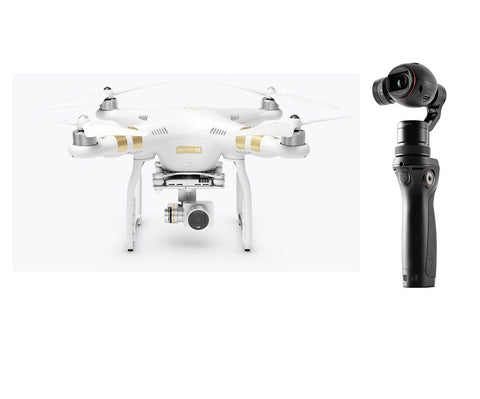 DJI Phantom 3 4K WiFi Quadcopter + DJI Osmo Handheld Gimbal Bundle