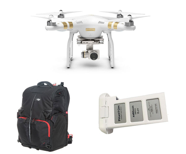 Phantom 3 Professional + Extra Battery + Manfrotto Backpack