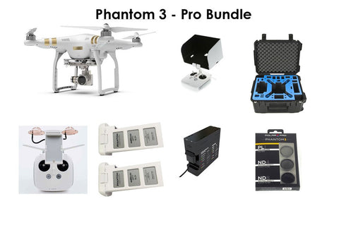 Phantom 3 Professional - Pro Package Custom Bundle