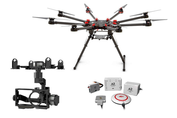 Spreading Wings S1000+ with Zenmuse Z15-BMPCC Gimbal and A2 Flight Controller