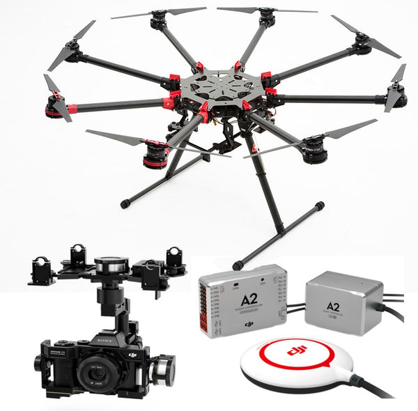 Spreading Wings S1000+ with Zenmuse Z15 GH4 Gimbal and A2 Flight Controller