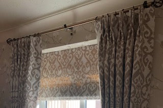 Roman Blind and Double Pleat Curtains