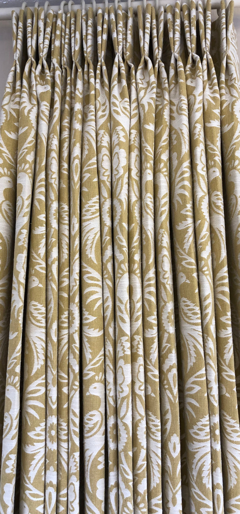Curtains with double pleat heading