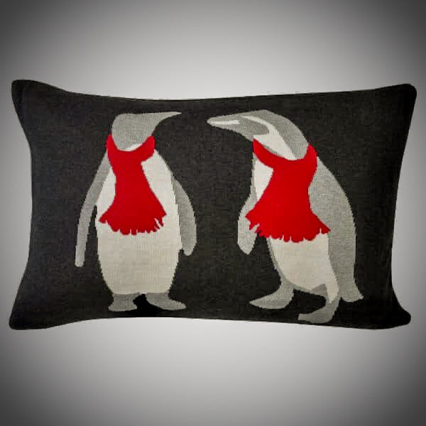 Penguin Cushion including Feather Pad