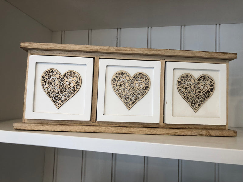 Wooden Heart Storage Cabinet