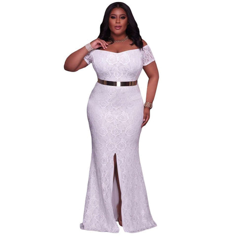 Fashion Off Shoulder Maxi dress - Abi'sdress