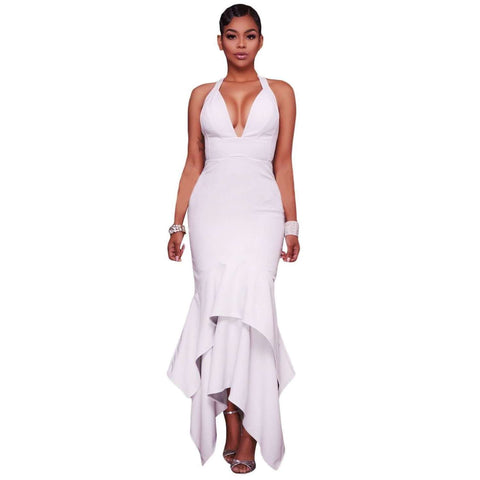 Fashion Low-cut Maxi Gown - Abi'sdress