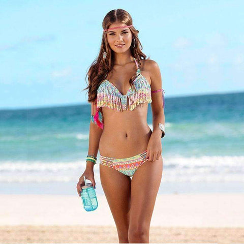 Fashion 2pc Fringe Bikini set - Abi'sdress