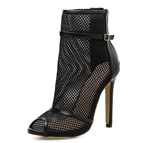 Fashion Mesh Ankle Boots - Abi'sdress