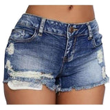 Denim Ripped Hole Shorts Jean