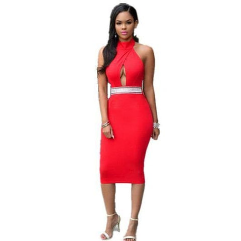 Fashion Cut-Out Bodycon Dress