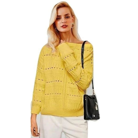 Fashion Hollow Out Knitted Sweater