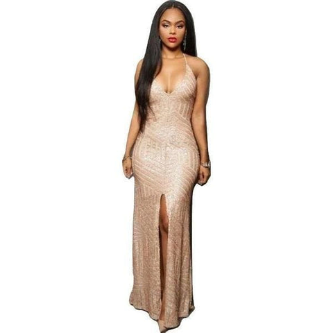Fashion Sequin Evening Dress
