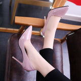 Pointed Toe Pumps High Heels 10Cm/7Cm/4Cm