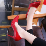 Pointed Toe Pumps High Heels 10Cm/7Cm/4Cm Red 10 Cm / 6
