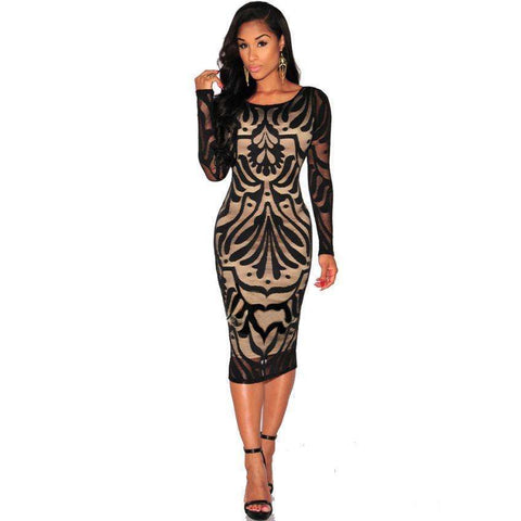 Fashion Lace Evening Dress - Abi'sdress