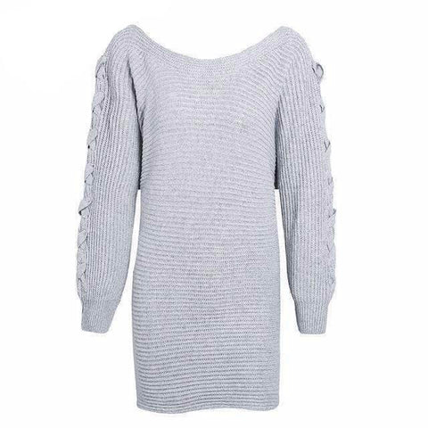 Fashion Lace-up Sleeve Sweater - Abi'sdress