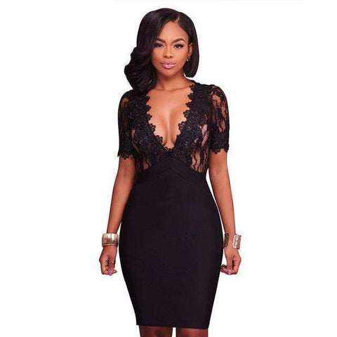 Fashion Elegant Lace Dress - Abi'sdress