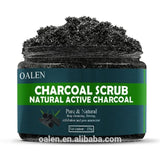 Womens Exfoliating Active Charcoal Bath Salts Black Skin Care