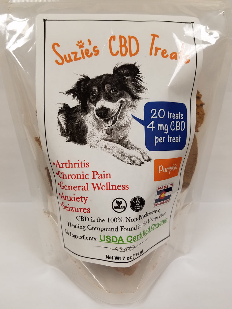 Suzie's CBD Pet Treats 7oz Pumpkin - 4mg/Treat
