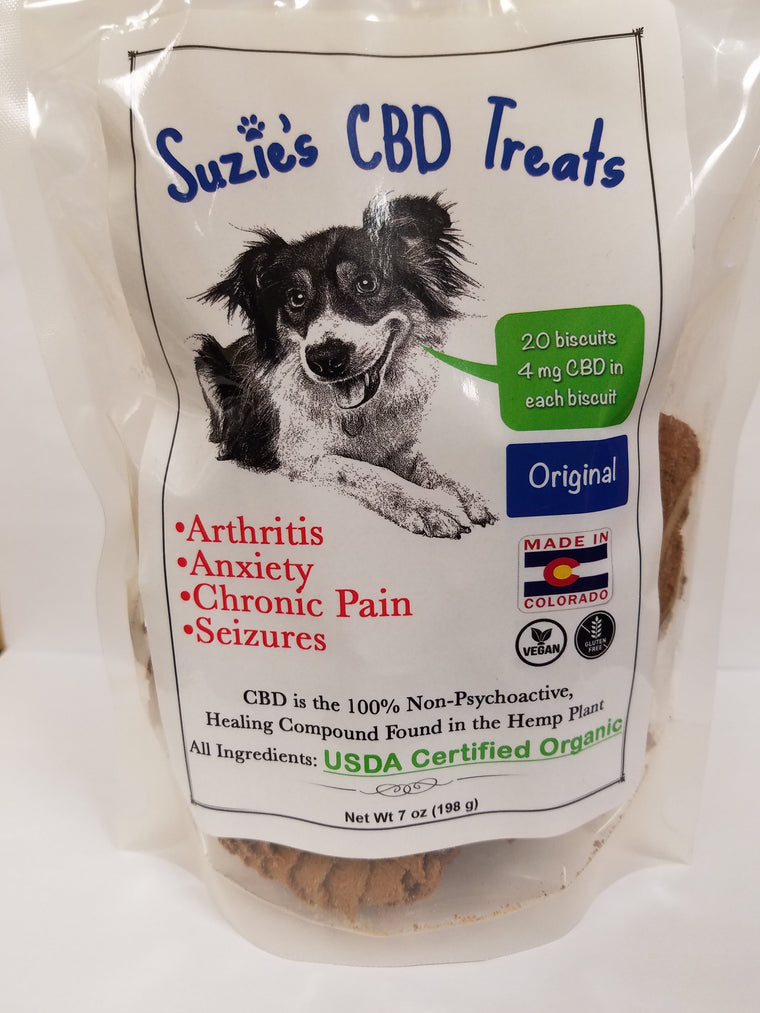 Suzie's CBD Pet Treats 7oz Original - 4mg/Treat