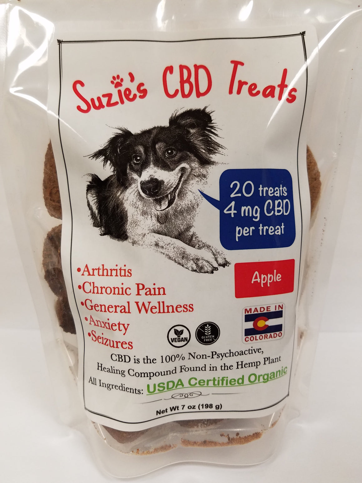 Suzie's CBD Pet Treats 7oz Apple - 4mg/Treat