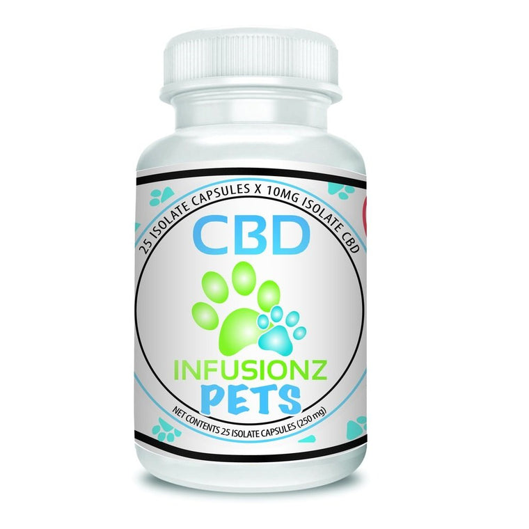 CBD Infusionz CBD Isolate Pet Capsules - 50 ct. - 500 MG/Bottle