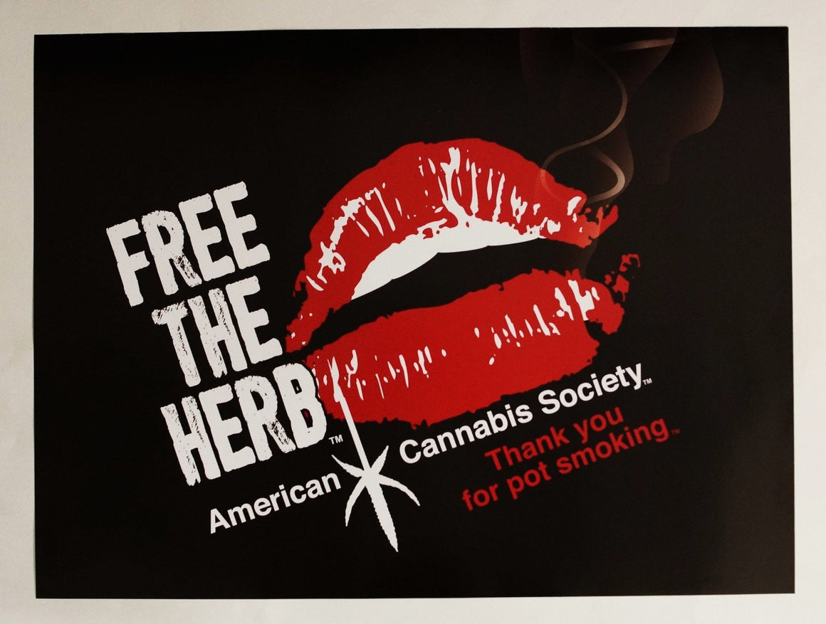 "Free The Herb - 24"" x 18"" Wall Poster - American Cannabis Society®"