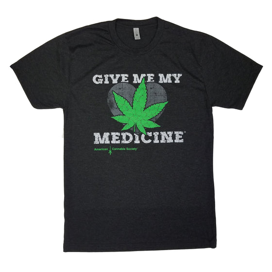 Give Me My Medicine® Heart & Leaf T-Shirt - Vintage Black