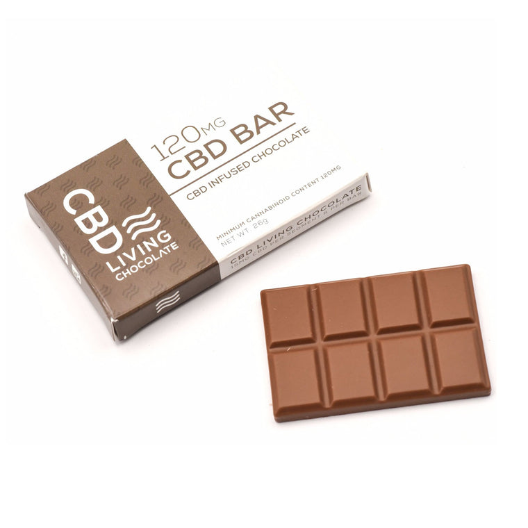 CBD Living Milk Chocolate - 120 MG/Bar