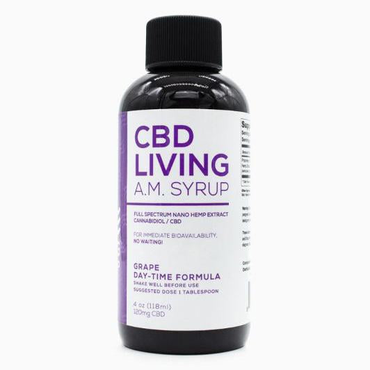 CBD Living Grape AM Day Syrup - 4 oz -120 MG/Bottle