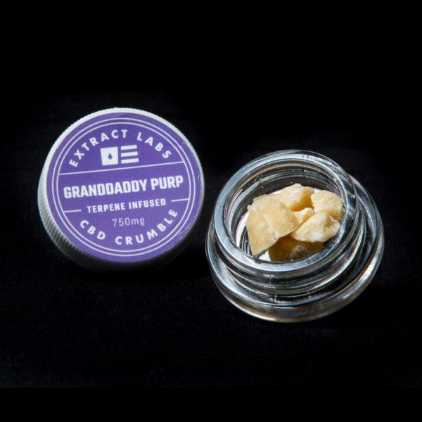 Extract Labs 1 Gram Granddaddy Purp Crumble - 800 MG/Gram