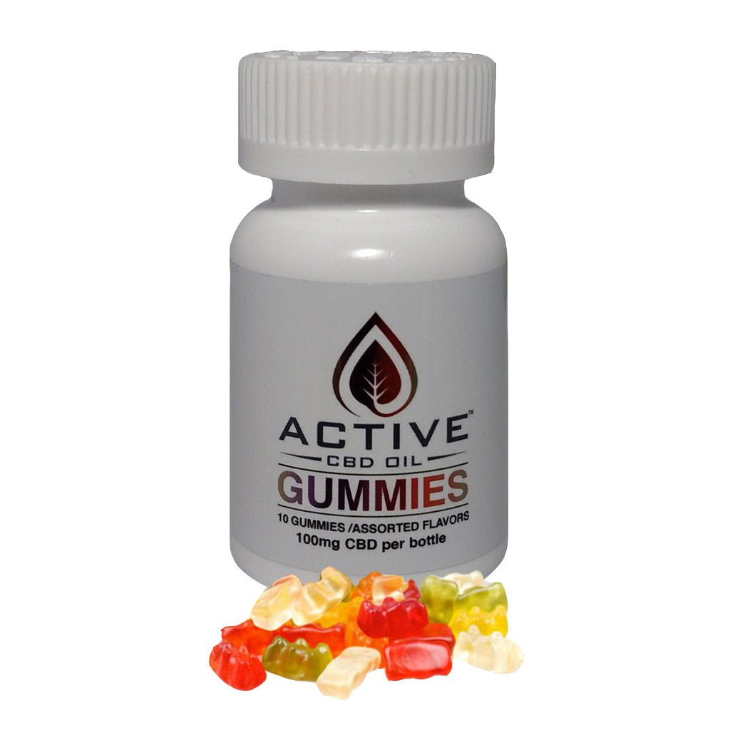 Active CBD Oil 10 ct. Gummies - 100 MG/Bottle