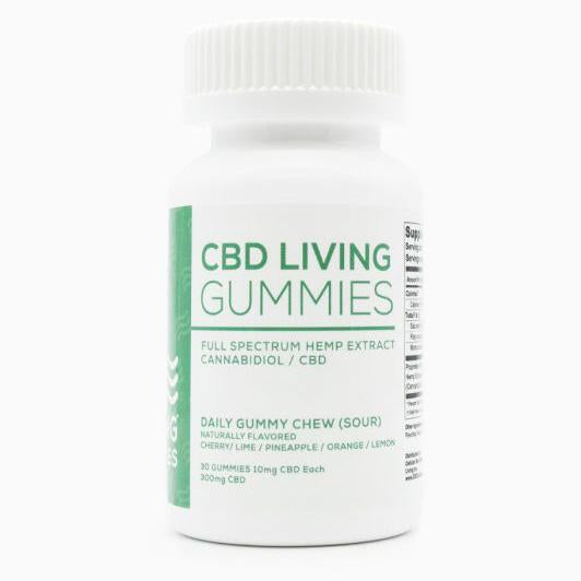 CBD Living Sour Gummies - 30 ct. - 300 MG/Bottle