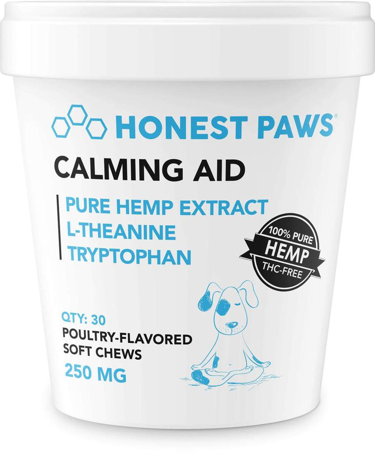Honest Paws 30ct Calming Aid Soft Chews 250mg