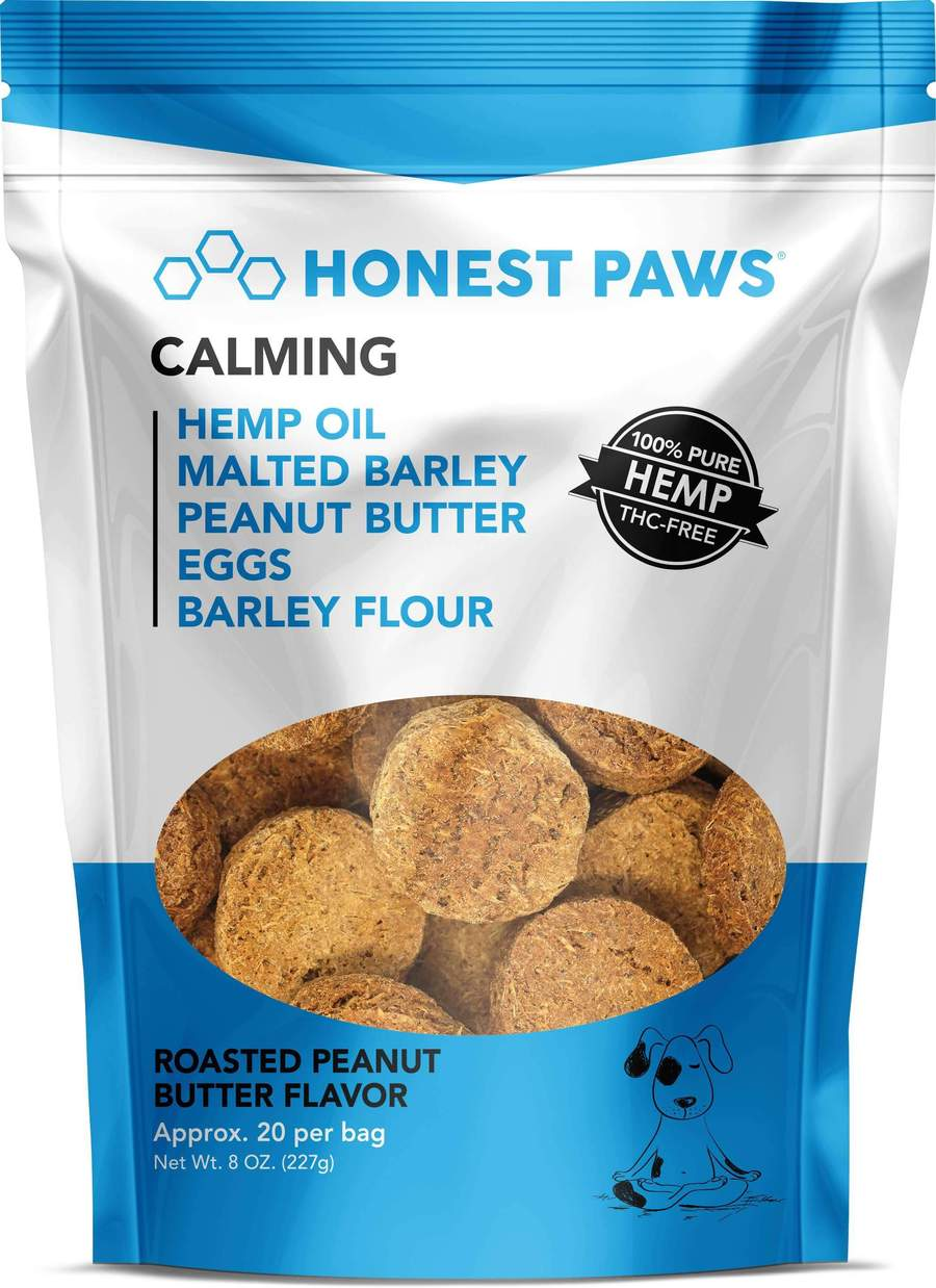 Honest Paws 20ct Calming CBD Dog Treats - Roasted Peanut Butter - 100MG/Bag