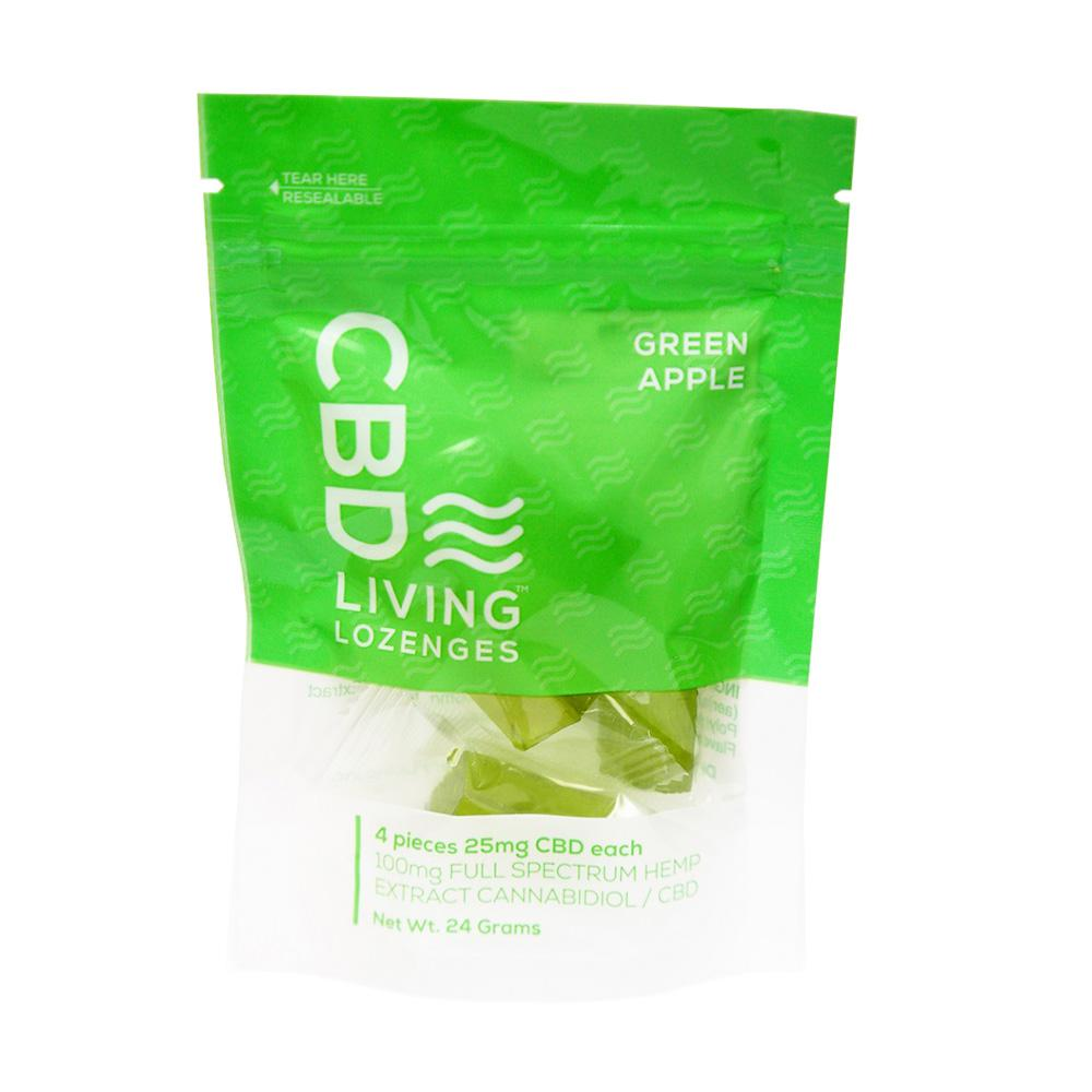 CBD Living 4 ct. Apple Lozenges Bag - 100 MG/Bag