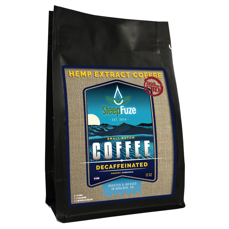 SteepFuze 12 oz. CBD Coffee - Decaffinated - 360 MG/Bag