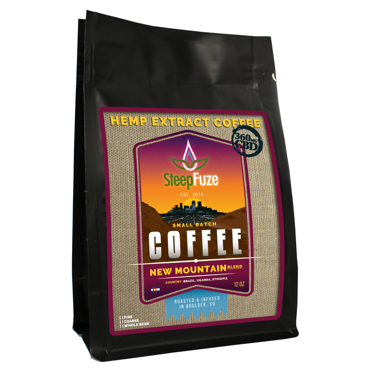 SteepFuze 12 oz. CBD Coffee - New Mountain - 360 MG/Bag