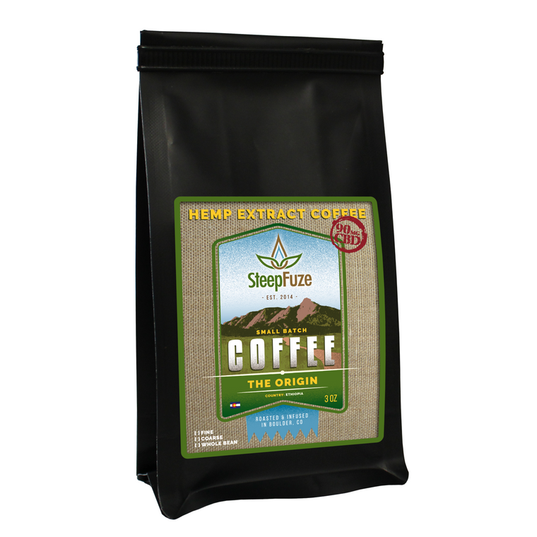 SteepFuze 3 oz. CBD Coffee - The Origin - 90 MG/Bag