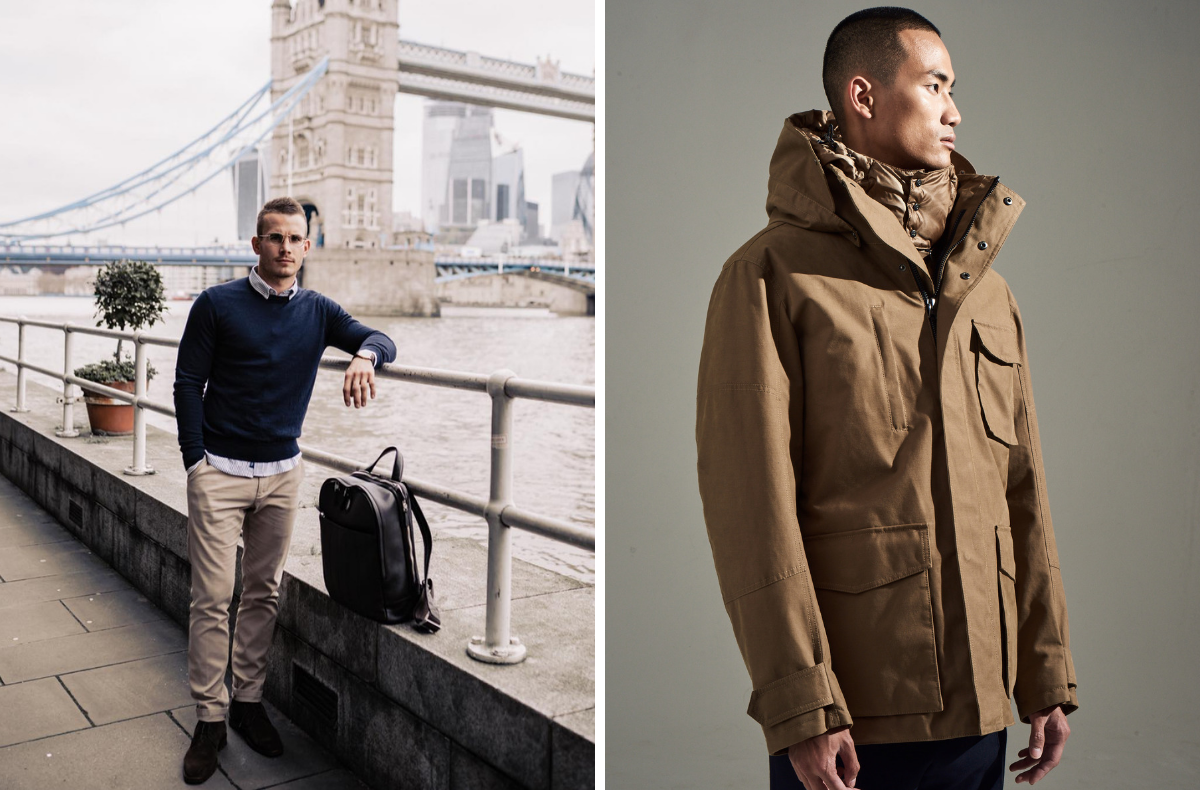 Man About Town and sepia Utility jacket