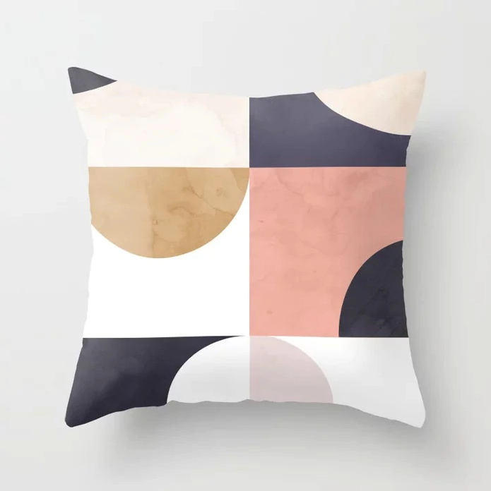Eleanor Abstract Color Block Geometric Cushion Covers