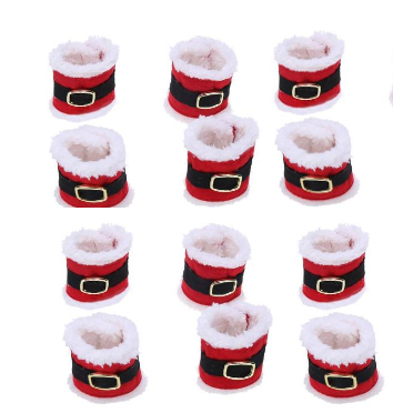 12pc/lot Santa Christmas Napkin  Holder Set